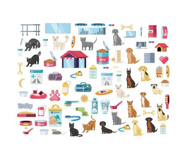 Dierenwinkel veterinaire elementen