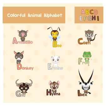 Dierlijk alfabet ontwerp