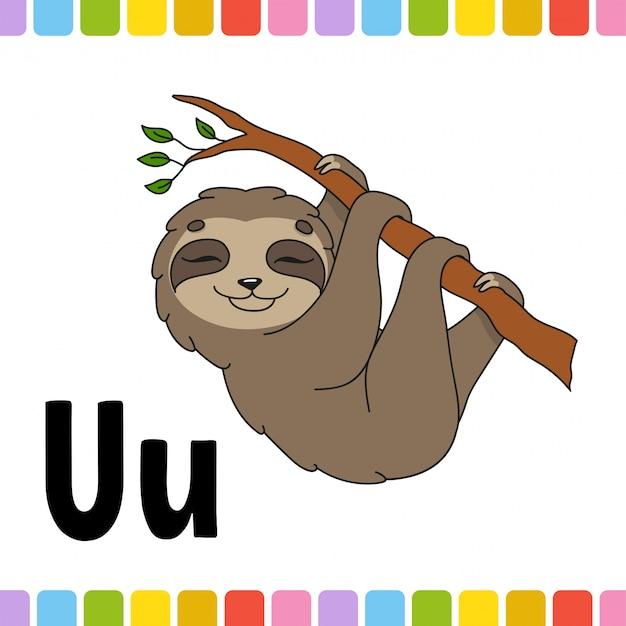 Dierlijk alfabet. zoo abc. cartoon schattige dieren