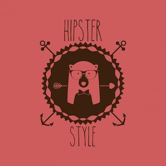 Dierlijk hipsterontwerp