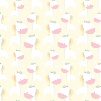 Dierlijk naadloos patroon, eenhoornpatroon