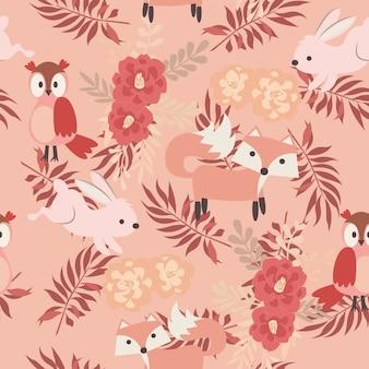Dierlijk roze afdrukken