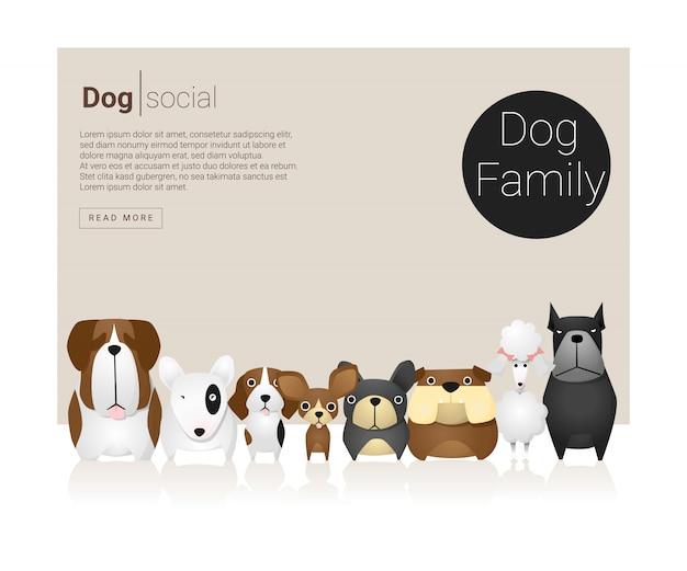 Dierlijke achtergrond met honden