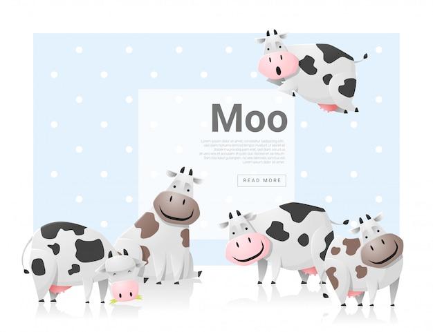 Dierlijke achtergrond met koeien