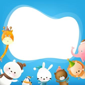 Dierlijke cartoon met tekstballon