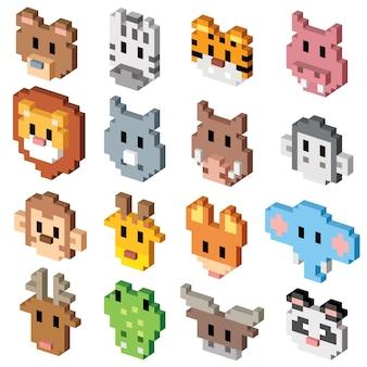 Dierlijke cartoon - pixel art