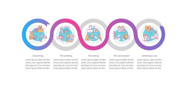 Dierlijke diensten infographic sjabloon
