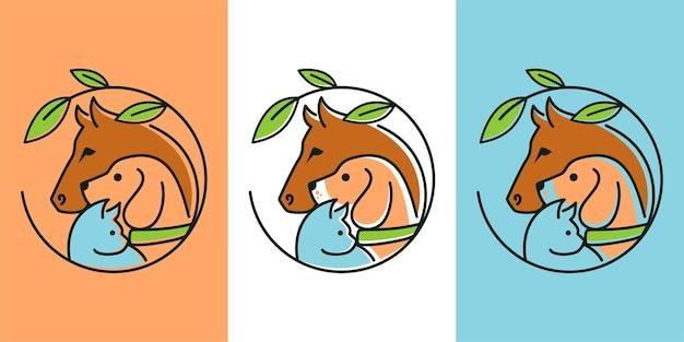 Dierlijke dierenwinkel logo ontwerp