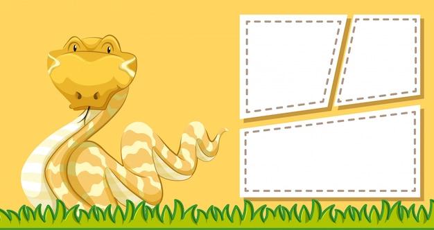 Dierlijke frame sjabloon poster met lege copyspace
