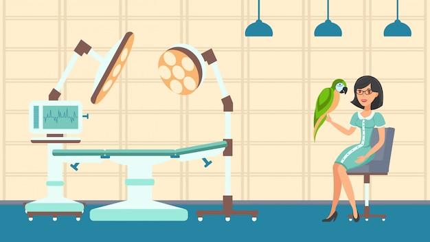 Dierlijke gezondheidszorg platte kleur vectorillustratie
