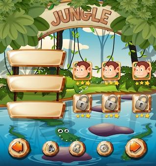 Dierlijke jungle game sjabloon