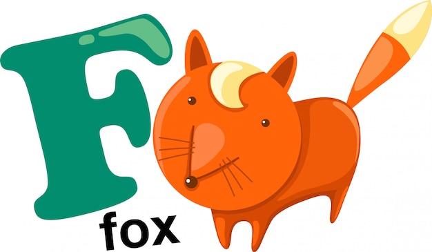 Dierlijke letter van het alfabet - f