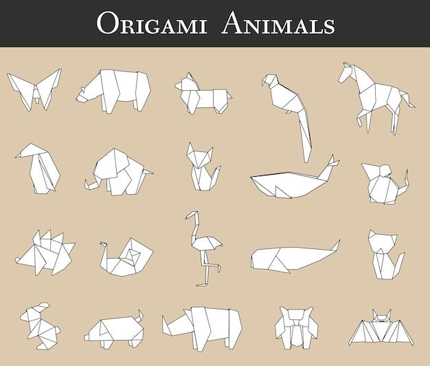Dierlijke origami vector