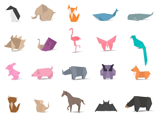 Dierlijke origami