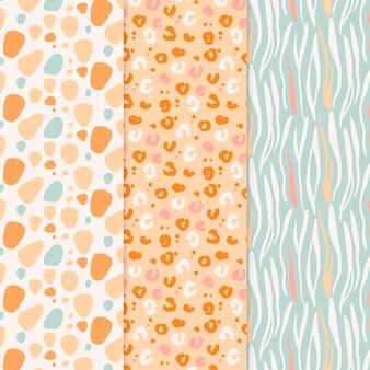 Dierlijke print patroon collectie
