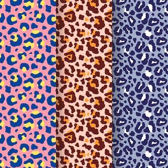 Dierlijke print patroon set