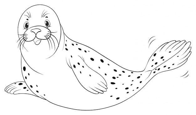 Dierlijke schets voor zeehond