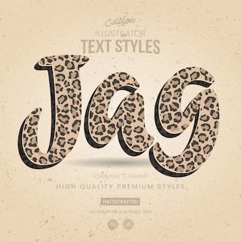 Dierlijke tekststijl jaguar