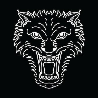 Dierlijke wolf-lijn