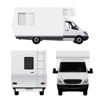Differents uitzicht op een caravan