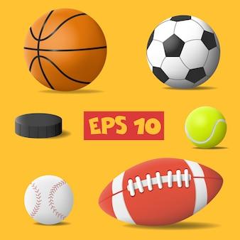 Diffirente sportballen