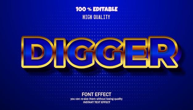 Digger-teksteffect, bewerkbaar lettertype