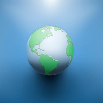 Digitaal aardebeeld van bol