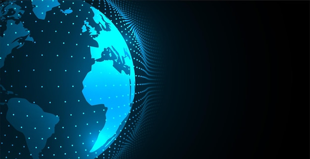 Digitaal aardeconcept met stippenbol