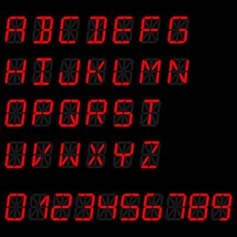 Digitaal alfabet sjabloon