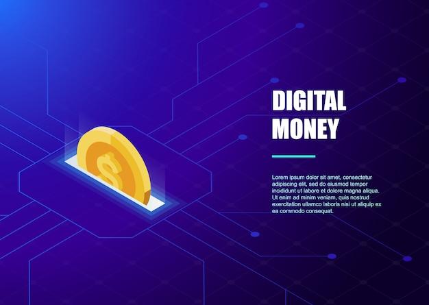 Digitaal bankieren online sjabloon