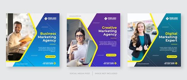 Digitaal bedrijf marketingbureau instagram postsjabloon