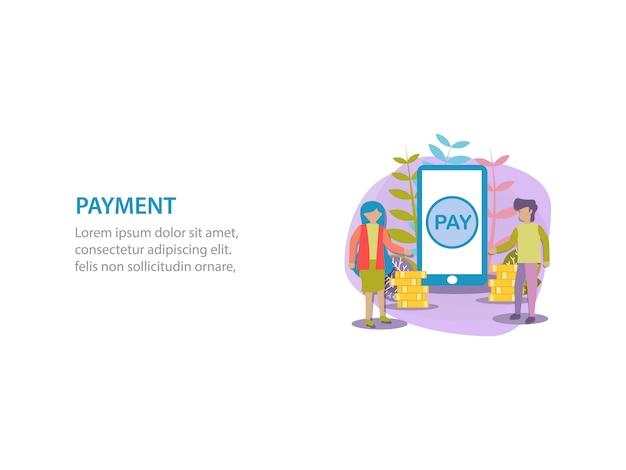Digitaal betalingsachtergrondontwerp