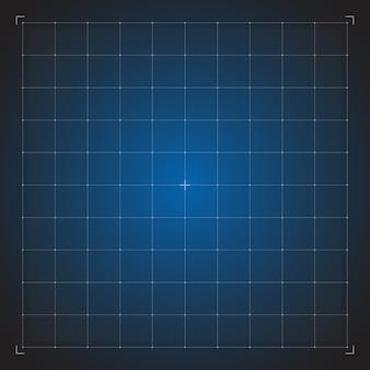Digitaal blauw raster