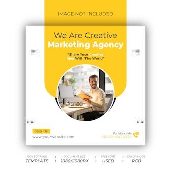 Digitaal bureau sociale post design
