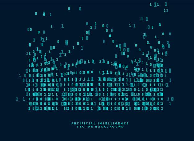 Digitaal codediagram voor technologie en kunstmatige intelligentie