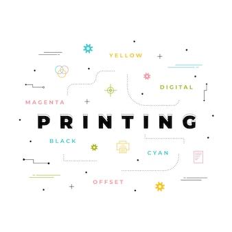Digitaal drukconcept