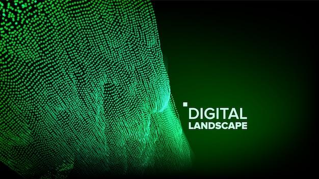 Digitaal groen landschap