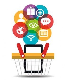 Digitaal marketing bedrijfsontwerp.