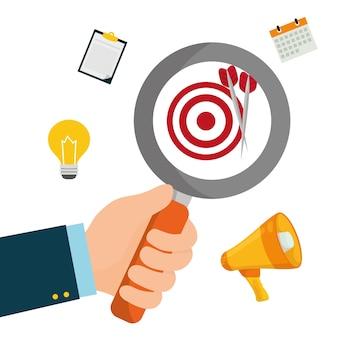 Digitaal marketing- en reclame grafisch ontwerp