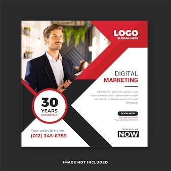 Digitaal marketingbureau instagram- en facebook-postsjabloon