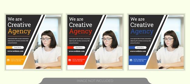 Digitaal marketingbureau social media post sjabloonontwerp