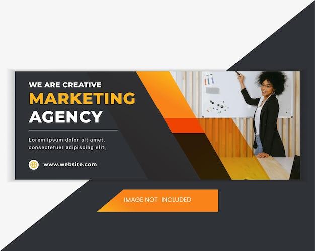 Digitaal marketingbureau sociale media paginaomslag en webbannersjabloonontwerp