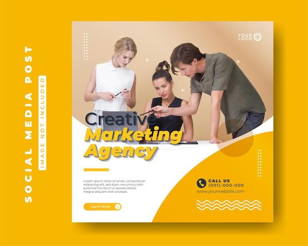 Digitaal marketingbureau vierkante social media postsjablonen