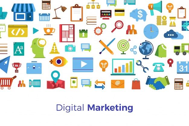 Digitaal marketingconcept