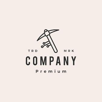 Digitaal mijnbouw hipster vintage logo