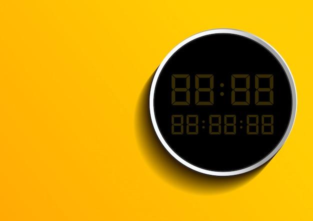 Digitaal nummer op frame over geel