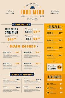 Digitaal restaurant menusjabloon
