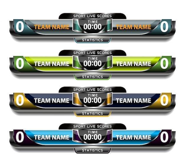 Digitaal scorebord en lower thirds