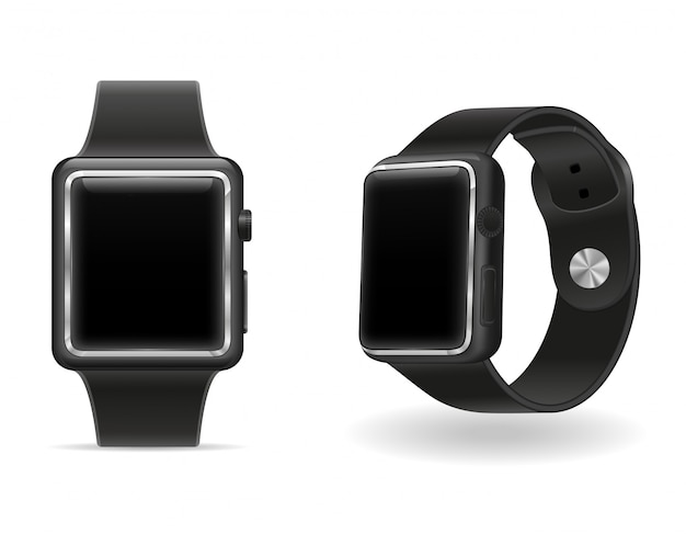 Digitaal slim horloge met touchscreen voorraad vectorillustratie