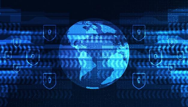 Digitaal wereld elektronisch netwerk op globaal technologieachtergrond, verbinding en communicatie conceptontwerp, vectorillustratie.